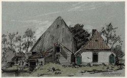 """Amstelveenseweg 255, boerderij """"Na druk Geluk"""" tussen tolhek en het oude stadion"""