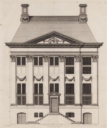 Beeldbank stadsarchief amsterdam bouwtekening van de voorgevel van het huis van joan poppen - Lay outs binnenkomst in het huis ...