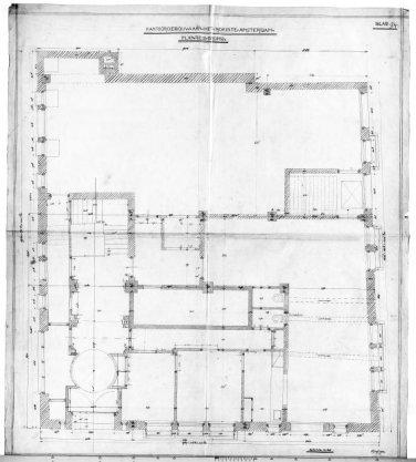 Plan tot het bouwen van een kantoorgebouw aan het Rokin 75-77-79 voor rekening van de firma B.H. Manus