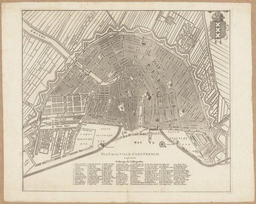 Plan de la ville d'Amsterdam