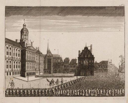 Executie van een man en een vrouw, opgehangen uit de Waag