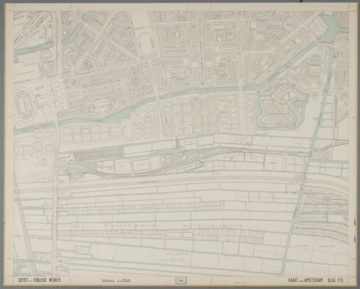 Blad F5 van de Kaart van Amsterdam schaal 1:2.500 (1941-1956)