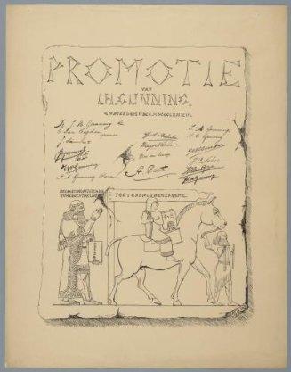 Promotie van J.H. Gunning, Amsterdam 17 Dec. MDCCCLXXII