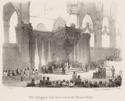 Inhuldiging koning Willem II