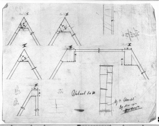 Plan tot het bouwen van een kantoorgebouw voor rekening van de firma B.H. Manus