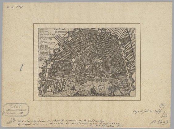Amsterdam met zijn nieuwe uytleggingh en vergroting in 't Jaer 1656