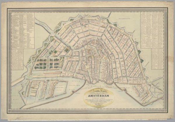 Nieuwe Kaart der Stad Amsterdam waarop zijn gebragt alle de voorgevallen veranderingen; benevens de uitgevoerd wordende kapitale werken van afsluiting der Haven door eenen Dijk met Sluizen voorzien