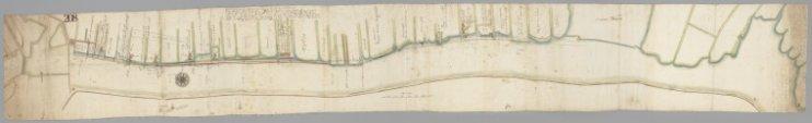 Kaart van de Buiten-Amstel en haar oevers, zich uitstrekkende van de Singelgracht tot en met de Diemermeer