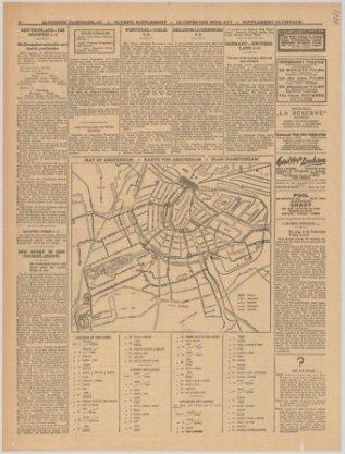 Map of Amsterdam. - Karte von Amsterdam - Plan d'Amsterdam