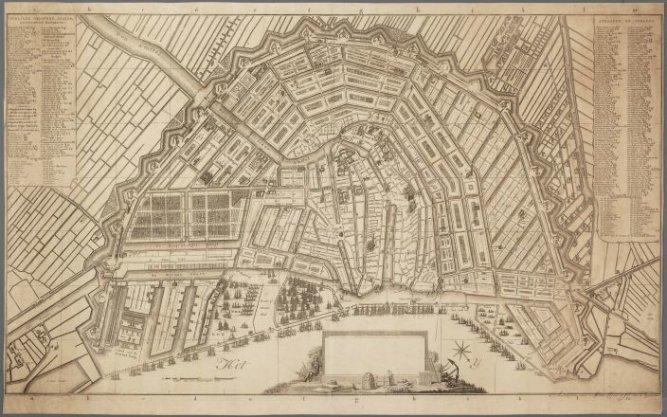 Twaalfde editie van de kaart van Amsterdam op schaal ca. 1:5.100
