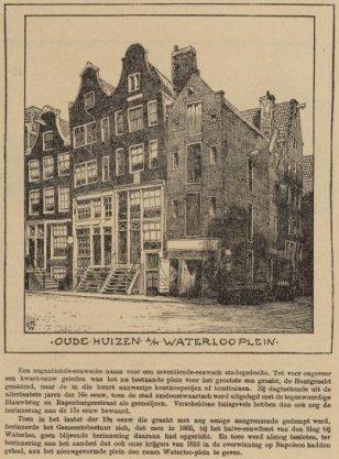 Oude huizen aan het Waterlooplein
