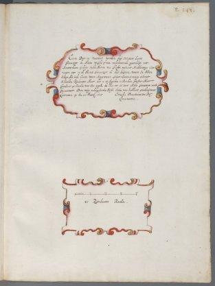 Titelcartouche Folio 49  behorende bij kaart 43 (rechter deel blad)