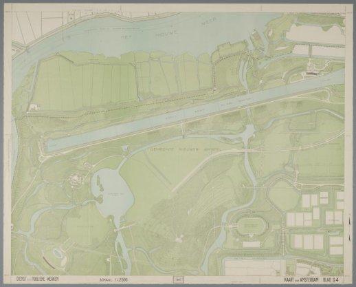 Blad G4 van de Kaart van Amsterdam schaal 1:2.500 (1941-1956)