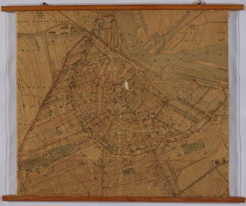 Kaart van Amsterdam  bewerkt door het 1e hoofdbureau der Afdeeling Publieke Werken door H.J. Scheltema ...