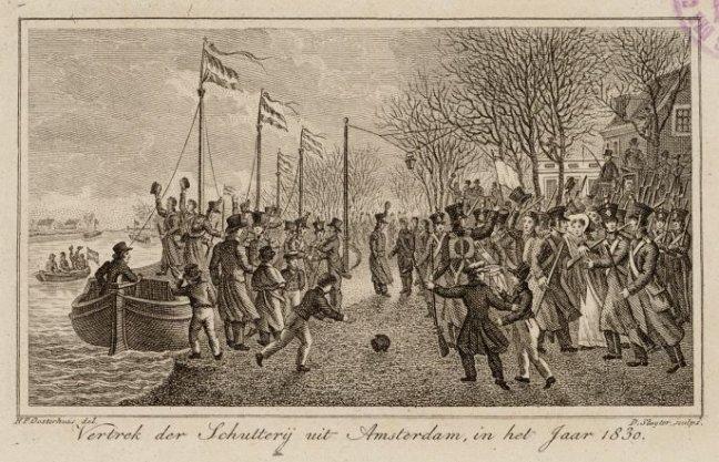Vertrek der Schutterij uit Amsterdam
