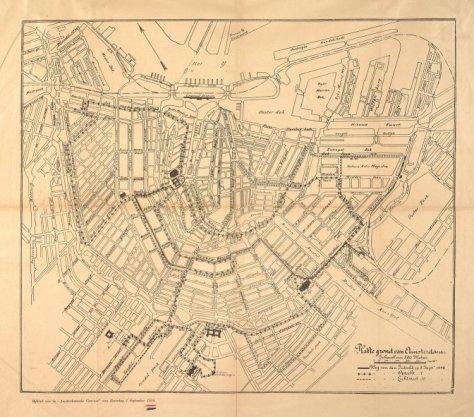 Platte grond van Amsterdam