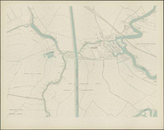 Blad 13. Afgebeeld staan onder andere het oostelijk deel van de Gein- en Gaasperpolder en Weesp