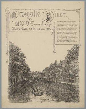 Promotiediner van Mr. G.C. Everwijn Lange, Amsterdam, 20 december 1883