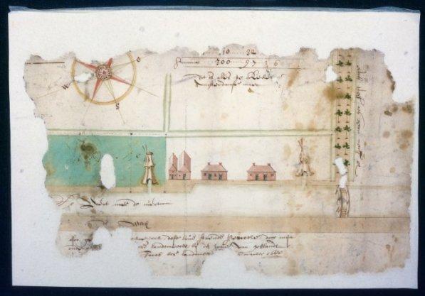 Kaart 4 van kaartboek B van het Burgerweeshuis