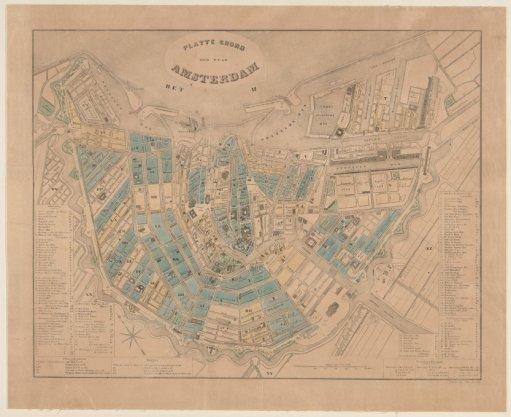 Platte Grond der Stad Amsterdam