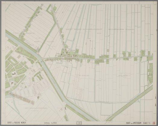 Blad F3 van de Kaart van Amsterdam schaal 1:2.500 (1941-1956)