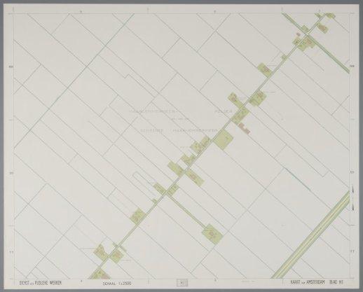 Blad H1 van de Kaart van Amsterdam schaal 1:2.500 (1941-1956)
