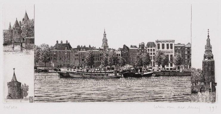 Oosterdok met oude torens