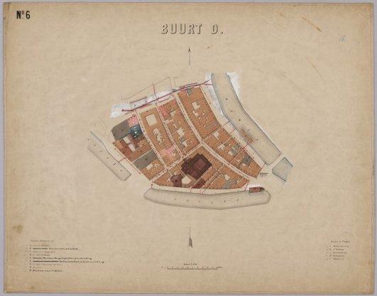 Atlas van de gemeente Amsterdam bevattende de grondteekening van alle gebouwen met de tegenwoordige nommering, en onderscheiding van gemeente-eigendommen, publieke en bijzondere gebouwen, woon- en pakhuizen