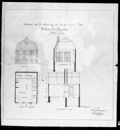 Ontwerp voor de verbouwing van een huis voor de heer B. Porsius Ezn