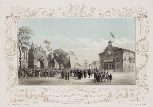 Bezoek van Z.M. Koning Willem III te Zaandam op den 17 Augustus 1853