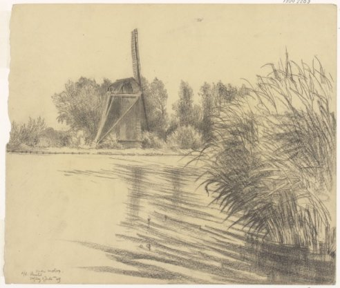 Oude molen aan de Amstel