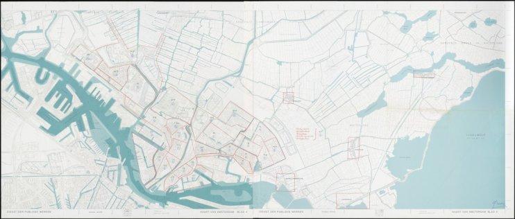 Kaart van Amsterdam 1:10.000