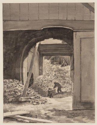 Uitbreken der stads geschut en klokkengietery te Ams. 1 Dec. 1821