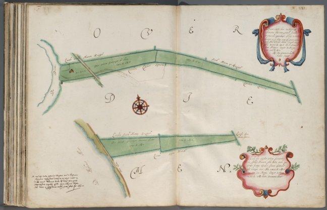 Kaart met twee afbeeldingen