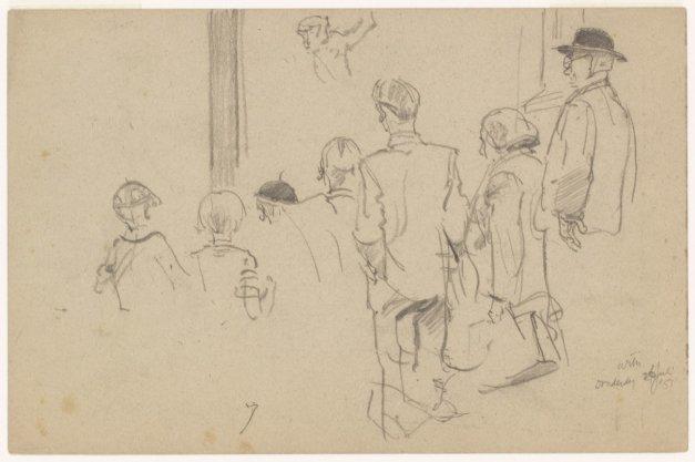 Bezoekers voor de apenkooi in Artis, Plantage Kerklaan 40
