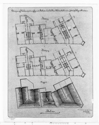 Ontwerp van vijf woonhuizen voor de heren Kloppers