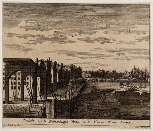 Afbeelding van de ACTIEaan de KATTENBURGERBRUG te AMSTERDAM, op woensdag Ogtend den 30 May 1787