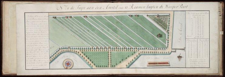 No 1: de Tuijn aan den Amstel ende 12 Raamen buijten de Weesper Poort