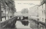 Zicht op de Augustijnenrei (rei en straat) en de Augustijnenbrug.