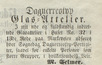 Daguerreotyp Glas-Attelier 1854-05-16