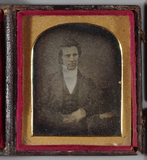 Thumbnail preview of Half length portrait of a young man with left…