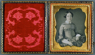 Thumbnail preview of Frau mit Union Case,  USA, ca. 1855.
