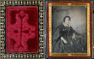 Thumbnail preview of Three-quarter portrait of a young woman