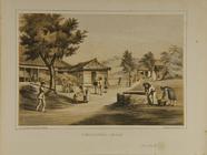 Thumbnail af Dorfansicht mit Bewohnern, die verschiedene T…