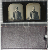 Visualizza Stereoscopic daguerreotype of an unknown man.… anteprime su