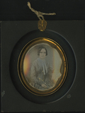 Thumbnail preview of Three quarter length portrait of seated woman…