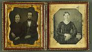Esikatselunkuvan Doppelporträt - Paar & Frau, USA, ca. 1850 un… näyttö