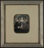 Visualizza Dobbelt-portrett med en sittende ung kvinne o… anteprime su