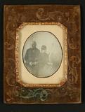 Thumbnail preview van Großelternpaar mit Enkelin, um 1850.