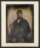 Visualizza Portrait d'homme, à mi-corps, assis, de trois… anteprime su